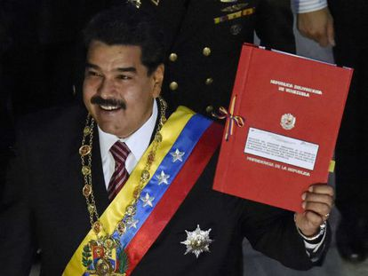 Maduro apresenta no Congreso sua petição de poderes especiais.