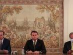 Dias Toffoli, Jair Bolsonaro e Paulo Guedes em reunião no Supremo Tribunal Federal, no dia 7 de maio de 2020.