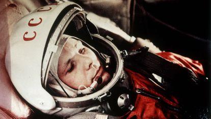 Yuri Gagarin, o russo que, em 12 de abril de 1961, tornou-se o primeiro ser humano a realizar um voo espacial.