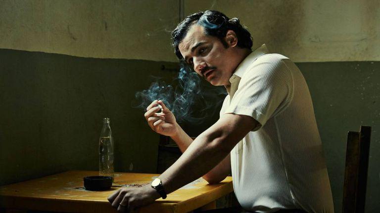 O ator Wagner Moura como Pablo Escobar na série 'Narcos'.
