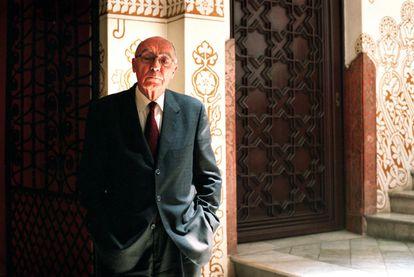 José Saramago, em Barcelona, durante a apresentação de sua novela 'Ensaio sobre a lucidez', em 2004
