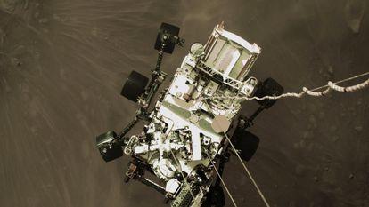 Aterrissagem do 'Perseverance' em Marte, nesta quinta.