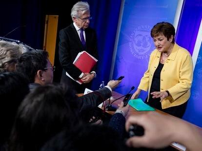 A diretora-gerente do FMI, Kristalina Georgieva, em março em Washington.