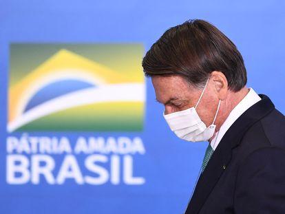 O presidente Jair Bolsonaro em evento no Planalto em 1º de junho.