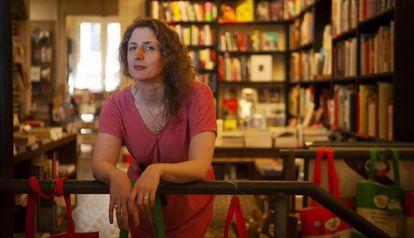 A escritora e 'taróloga' Jessa Crispin em Barcelona.