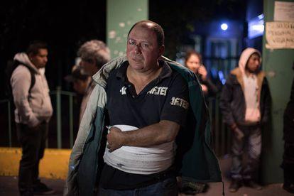 Vítima da explosão em Tultepec em um hospital de Cuautitlán.