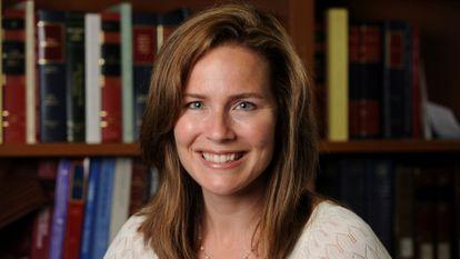 Amy Coney Barrett, em foto tirada durante seu período como professora na Universidade de Notre Dame.