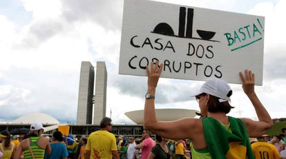 Protesto em Brasília no último dia 4.