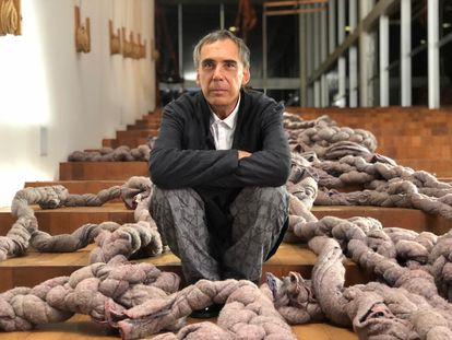 Arnaldo Antunes na Galeria Psicoativa de Tunga, no Inhotim.