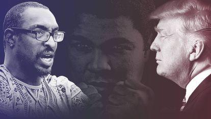 Muhammad Ali Jr., seu pai e Trump.