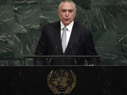 Temer, durante seu discurso na ONU nesta terça.