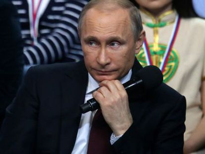 Putin, em um encontro com seguidores e jornalistas em São Petersburgo.