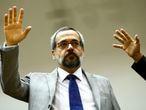 O ministro da Educação, Abraham Weintraub, participa do primeiro culto de Santa Ceia de 2020 da Frente Parlamentar Evangélica do Congresso Nacional, em 19 de fevereiro de 2020.
