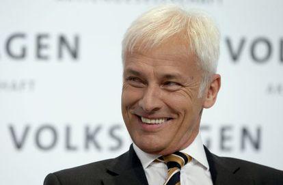 Matthias Mueller, novo presidente da Volkswagen, em março.