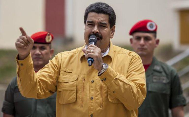 Maduro, nesta quinta-feira em Caracas.