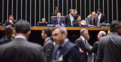 Sessão que vota PEC 241 na Câmara.