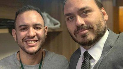 Guilherme Julian em reunião com o vereador Carlos Bolsonaro.
