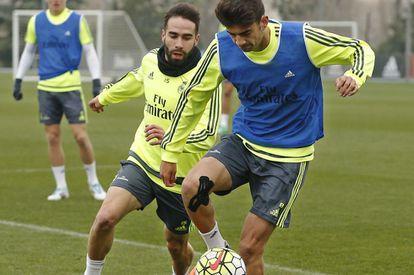 Enzo Zidane, no treino de quarta-feira.