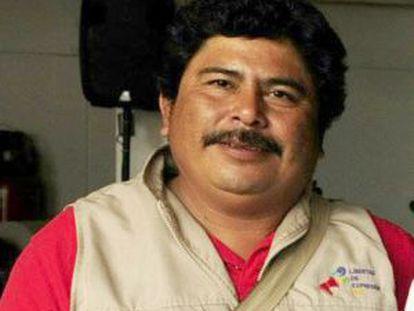 O jornalista mexicano Gregorio Jiménez.