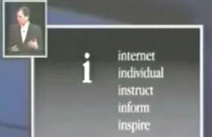 Os cinco 'i's que inspiraram o modelo de iMac apresentado por Steve Jobs em 1998.