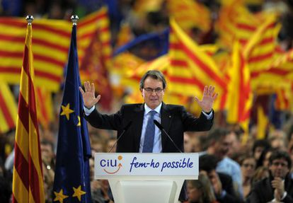 O presidente da Generalitat de Catalunha, Artur Mas.