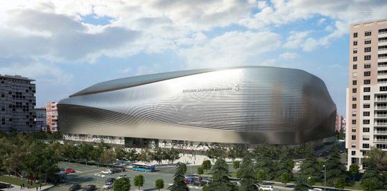 Maquete do projeto de reforma do estádio Santiago Bernábeu.