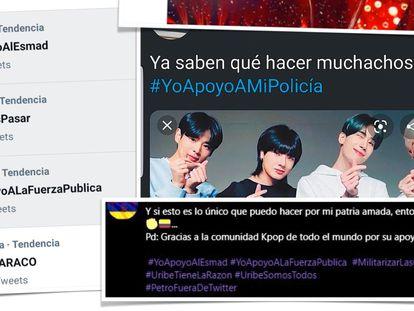 Milhares de 'k-popers' colombianas sabotaram as tendências contra a greve no Twitter.