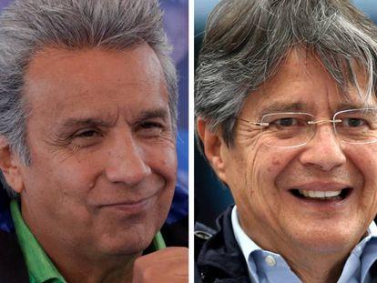 O candidato da situação Lenín Moreno e o opositor Guillermo Lasso.