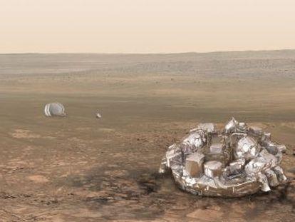 Módulo 'Schiaparelli' se prepara para seu pouso sobre o planeta vermelho, previsto para a quarta-feira