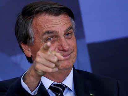 Bolsonaro durante cerimônia no Palácio do Planalto, em 14 de setembro.
