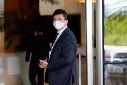 Ex-ministro da Justiça e ex-juiz da Lava Jato, Sergio Moro, em Brasília