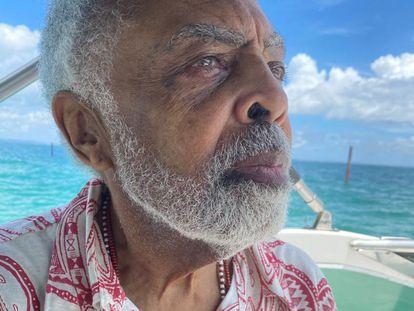 O músico e compositor brasileiro Gilberto Gil.