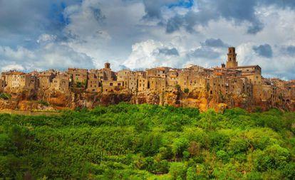 Povo de Pitigliano, na província de Grosseto, na Toscana.