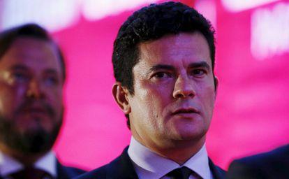 O juiz federal Sergio Moro, em evento no dia 9 de março em Curitiba.