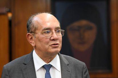 O ministro Gilmar Mendes, em gabinete em Brasília.