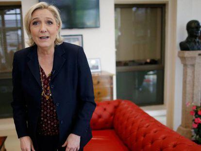 A candidata da Frente Nacional, Marine Le Pen, um dia após o debate com Emmanuel Macron.