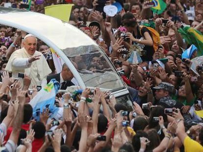 O Papa, no Rio de Janeiro, durante a Jornada Mundial da Juventude.
