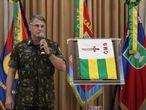O comandante-geral do Exército, Edson Leal Pujol, durante solenidade em Porto Alegre no dia 30 de abril de 2020.