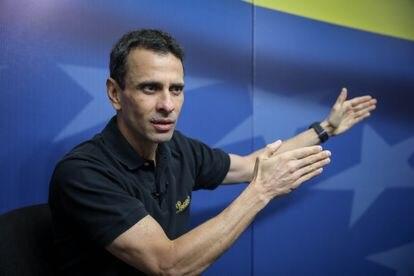 Henrique Capriles, durante uma entrevista em Caracas, em 29 de março do ano passado.
