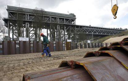 Obras no canal Havel-Oder.