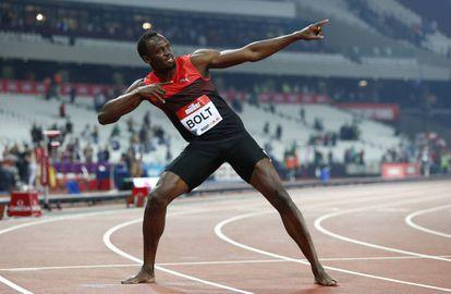 Usain Bolt há alguns dias, em Londres.