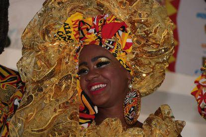 Carnaval 2018: saída do Bloco Ilê Ayê.