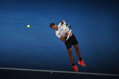 Rafael Nadal, durante a partida em que derrotou Grigor Dimitrov.