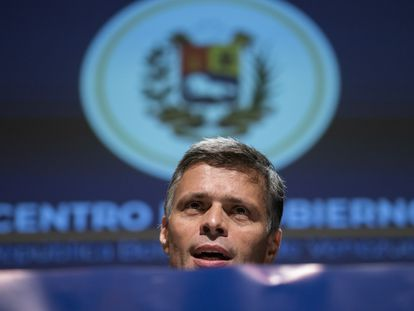 Leopoldo López em Madri.