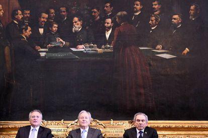 Calheiros, Lewandowski e Lira em reunião no Senado.