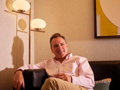 O historiador Niall Ferguson, fotografado no hotel Citrine, em Palo Alto (Califórnia), em 26 de agosto.