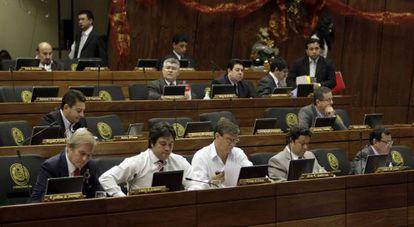 A Câmara dos Deputados do Paraguai, na quarta-feira.