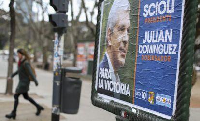 Propaganda eleitoral em Buenos Aires.