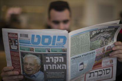 Um jornal israelense noticia a piora no estado de saúde de Ariel Sharon.