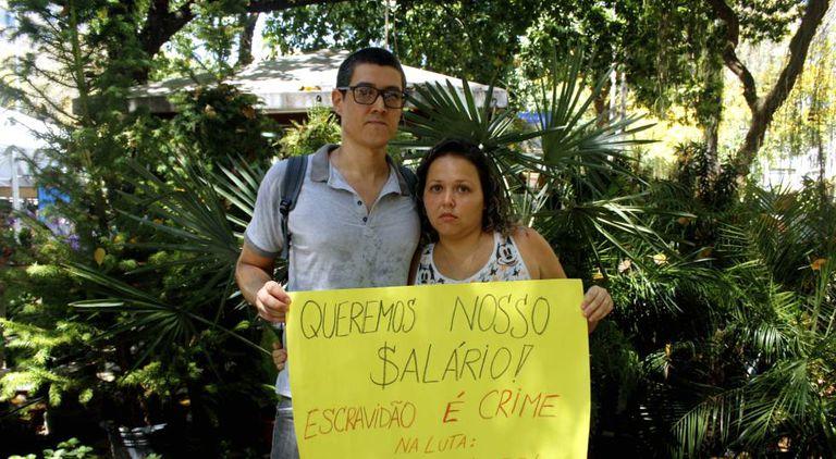 Henrique e Talita dependem do salário dele como técnico de enfermagem em um hospital estadual.